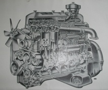 AEC. 9.6 litre oil engine. Instruction book and maintenace manual.
