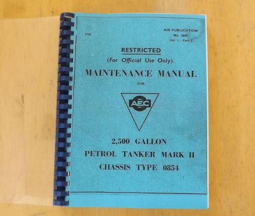 aec maintenance manual 0854 6x6 petrol tanker rh greenmachinesurplus com maintenance manual wheelchairs maintenance manual for fiat panda